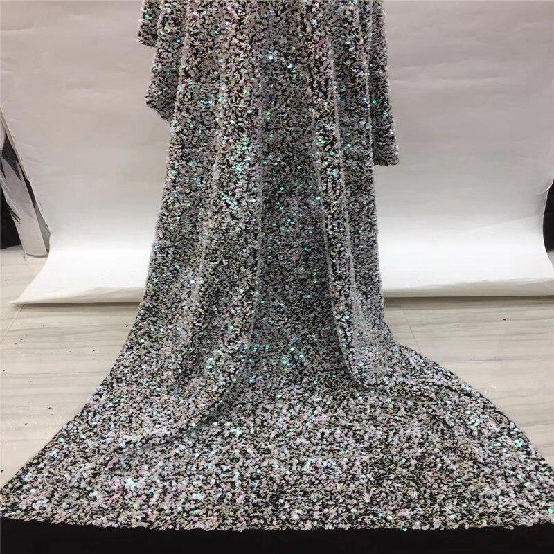 매디슨 고품질 스팽글 벨벳 레이스 원단 2019 수 놓은 얇은 명주 그물 레이스 원단 웨딩 드레스-에서레이스부터 홈 & 가든 의  그룹 1