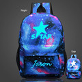 New Arrivals Men's Backpack Starry Sky Luminous Printing Backpack School Bags For Teenagers Travel Laptop Bag Mochila Escolar