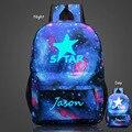 New Arrivals Men's Backpack Starry Sky Luminous Printing Backpack School Bags For Teenagers Travel Laptop Bag Mochila Escolar