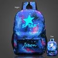 Nuevas Llegadas de Los Hombres Luminoso Cielo Estrellado de Impresión Mochila Escolar Mochila Para Adolescentes Viajan Bolsa de Ordenador Portátil Mochila Escolar