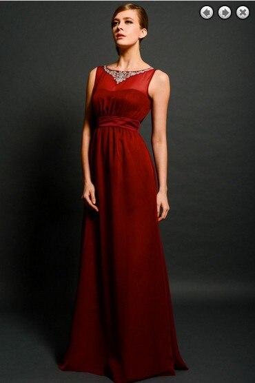 Livraison gratuite maxi élégant formel nouveau mode vestidos formales rouge long cristal perles robes robe de soirée