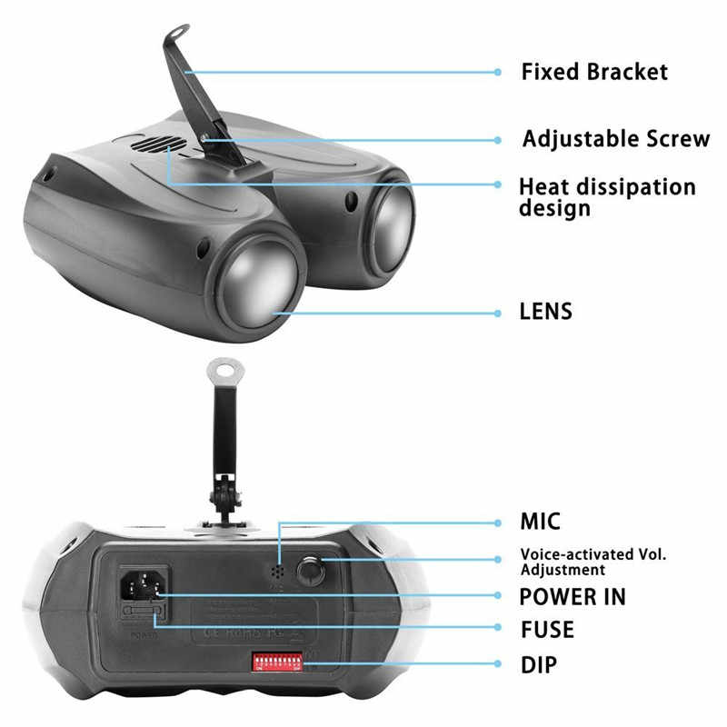 ZjRight красочные RGBW двухголовый воздушный проектор сценический свет 20 Вт 128 светодиодов лазерные сценические световые эффекты DJ вечерние бар KTV
