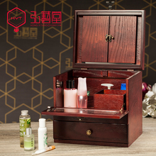 2016 Time-limited 12l Organizer Hongyitang Cosmetic Storage Box Real Wood Antique Large Wooden Makeup Dressing Mirror Cassette