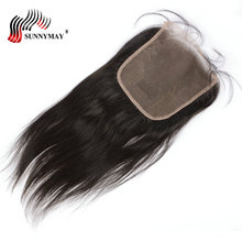 Sunnymay 6x6 Closure Brazilian Hair Silk Straight Lace Beauty Forever Bleached Knots Frontal