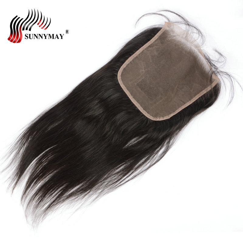 Sunnymay 6x6 Closure Brazilian Hair Silk Straight Lace Closure Beauty Forever Hair Bleached Knots Lace Frontal Closure