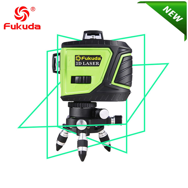 Fukuda Brand 12Lines 3D MW 93T 3GX Laser Level 360 Horizontal And Vertical Cross Super Powerful