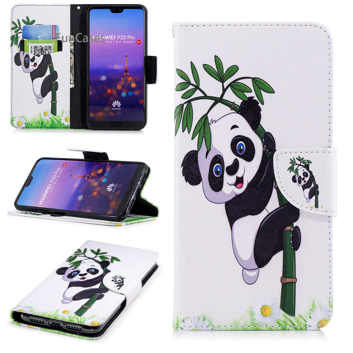 Giant Panda Flip Phone Case Sfor Hoesje Huawei P20 Pro Soft Silicone Phone Case Accessory Flip Phone Case Huawei Ascend P20 Plus Flip Cases Aliexpress
