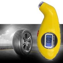 hot deal buy diagnostic tools yellow tire pressure gauge digital lcd meter manometer barometers for auto car motorcycle wheel air tester