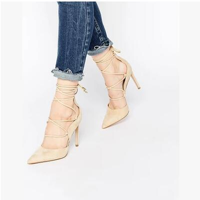 Reliable quality pointed toe font b women b font font b shoes b font ankle lace
