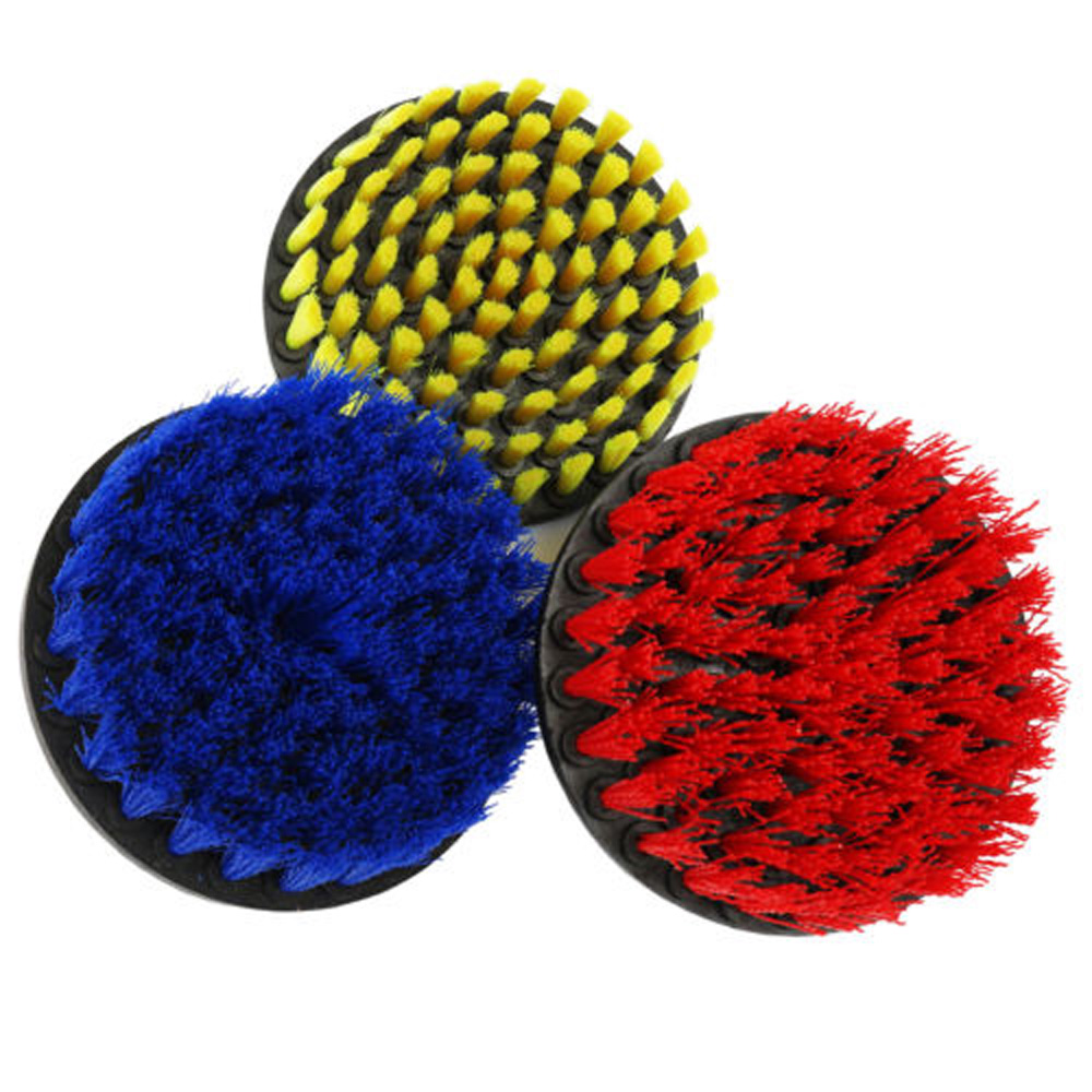 3Pcs 2/4/5inch Round Full Bristle Drill Brush Rotary Cleaning Tools Set