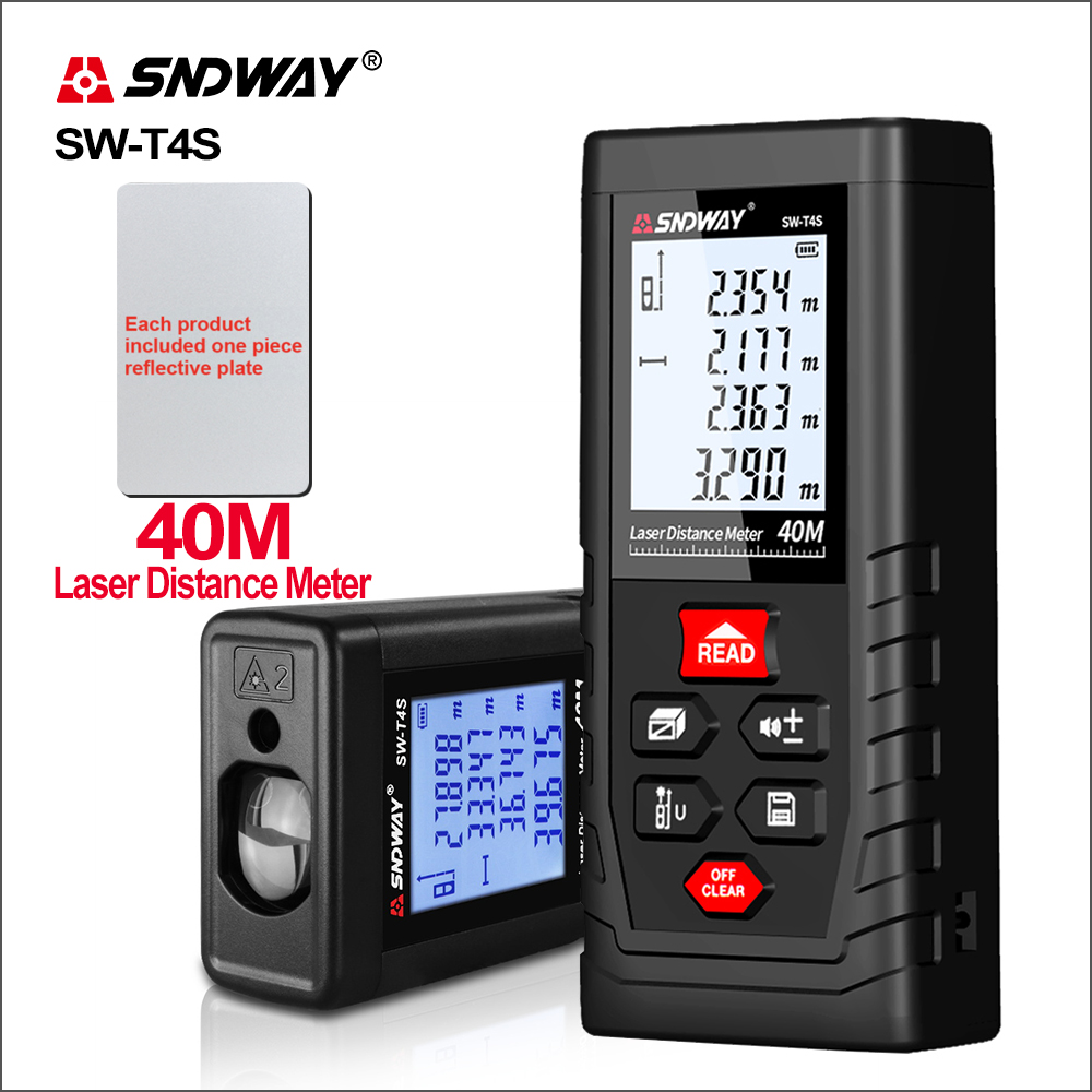SNDWAY Laser-entfernungsmesser Jagd Entfernungsmesser Digital Mini Palette finder Laser Band Abstand Herrscher Sensor SW-T4S Abstand Meter