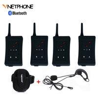 4 шт. Футбол судей гарнитура Bluetooth Vnetphone FBIM 1200 м Беспроводной режиме реального времени полный дуплекс BT переговорные + FM 800 мАч
