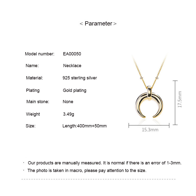 Fashion Necklace 2019 925 Sterling Silver Gold Moon Pendant Necklaces Balls Link Chain Women Jewelry ketting collier kolye in Pendant Necklaces from Jewelry Accessories