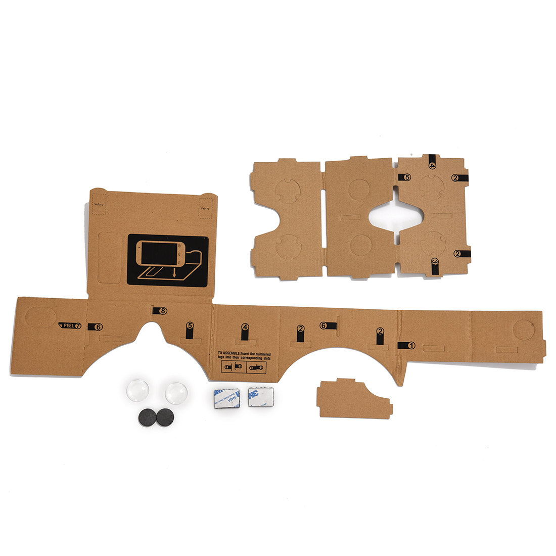 Mobile phone cardboard quality 3D Virtual Reality Glasses