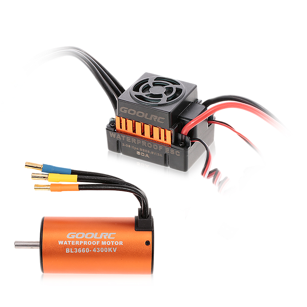 GoolRC Brushless Motor BL3660 4300KV 2-3S 60A Waterproof Brushless ESC for 1:10 RC Car Off-road Truck HSP TRAXXAS Vehicle полотенца банные spasilk полотенце 3 шт
