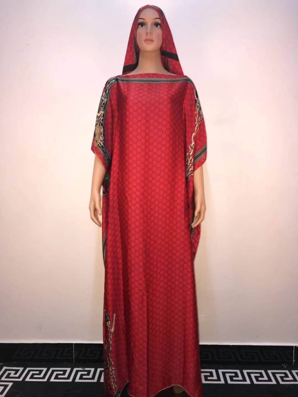 Hot Sale 2019 Summer Muslim Women Long Dress High Quality Size 145 Cm Length Fashion African Dress For Women
