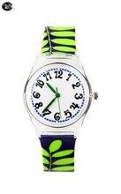 WL Quartz Clear Waterproof design Watch Ladies Wristwatch Model Easy Feminine Clock Wrist Watch Woman Leaves Resin Quartz