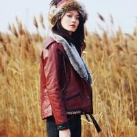 Зимние меховые кожаные Вышитые Ретро утолщенной куртка MZ40002