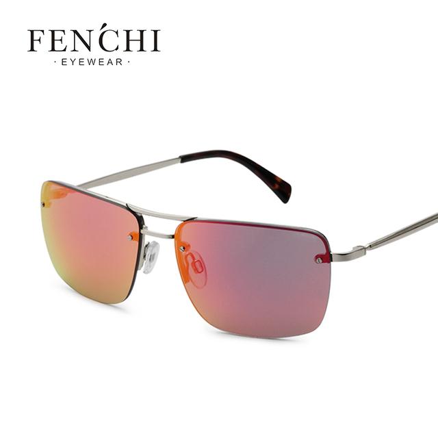 Rectángulo Lente Polarizada gafas de Sol de Los Hombres Conductor Espejo gafas de Sol gafas de Pesca Masculina Femenina Al Aire Libre Eyewear de Los Deportes Para Los Hombres