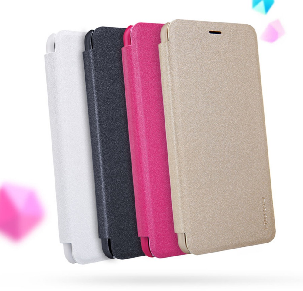 Nillkin Sparkle flip PU leather case for Meizu M5 Case hard plastic back cover case For Meizu M5 Cover Protective Shell case