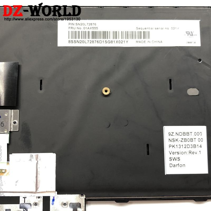 CHNASAWE Laptop UK Backlit Keyboard for Lenovo IBM ThinkPad T480 MT 20L5 20L6