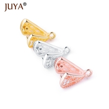 Crystal Agate Pendant Clasp 10PCS Hand Made Clamp Pinch Clip Bail Beads Findings DIY Jewelry Supplies Accessories Wholesale