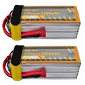 2pcs/lot You&me 6000mAh 22.2V 50C Max 100C 6S Li-Poly Battery for RC helicopter quadcopter