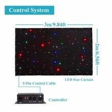 3×2 m/3×6 m/4×6 m 8ch dmx dj de la etapa llevó paño estrella matriz backdrop horizon cortina retardante