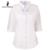 Blusas camisas de renda branca moda verão trecho padrão de Três Quartos camisa de manga feminino tamanho grande camisa das mulheres