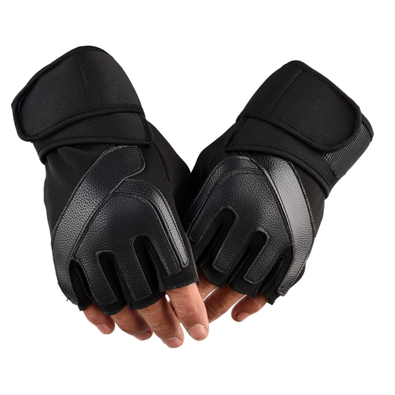 Men's Gym Gloves Bodybuilding Crossfit Fitness Sports Dumbbell Barbell Weight Lifting Sport Gloves