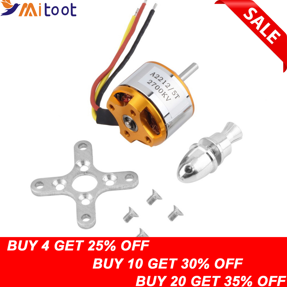 1pcs A2212 Motor Brushless 930KV 1000KV 1400KV 2200KV 2700KV For RC Aircraft Plane Multipperper Brushless Outrunner Motor
