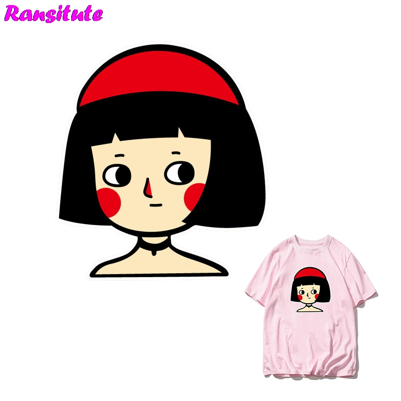 Ransitute R353 Leon Cartoon DIY Clothes Patch Cute Couple T-shirt A-level Powder Thermal Transfer Decoration Hot Map