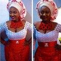 Frete Grátis 2016 Novo Casamento Nigeriano Beads Africanos Jewelry Set Red AMJ697 Indiano Colar Nupcial Jóias Set Frete Grátis