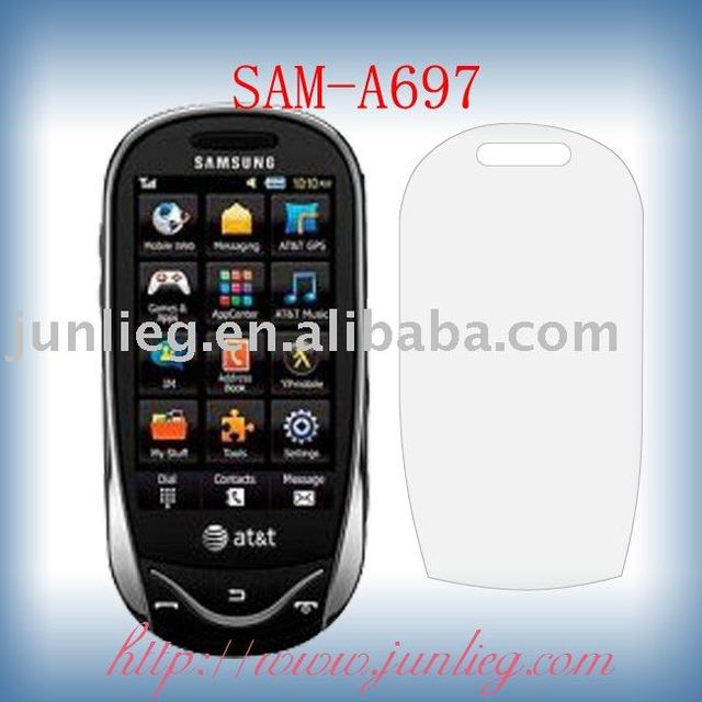 Free shipping +OPP packing Taiwan PET material normal new mobile screen guard for SamsungA697