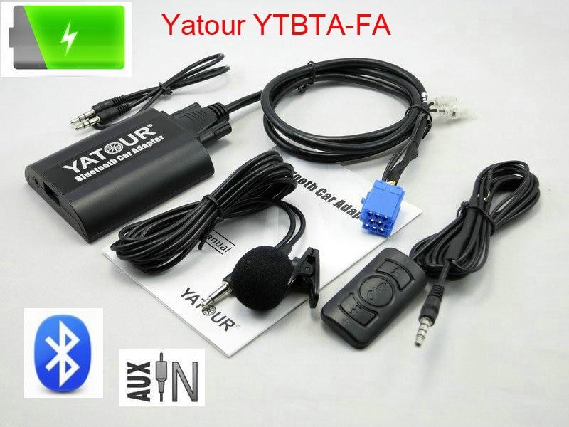 Alat Romeo Fiat Punto Lancia Blaupunk radioları üçün avtomobilin stereo rəqəmsal Bluetooth adapteri üçün Uzaqdan idarəetmə ilə Yatour BTA Bluetooth
