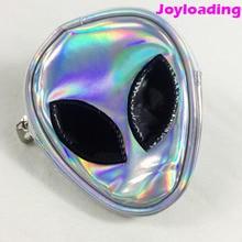 Joyloading Fashionable 3D Cartoon Cute Aliens Super Shine Laser Shoulders  Bag Boys Girls Backpack Reflective PVC