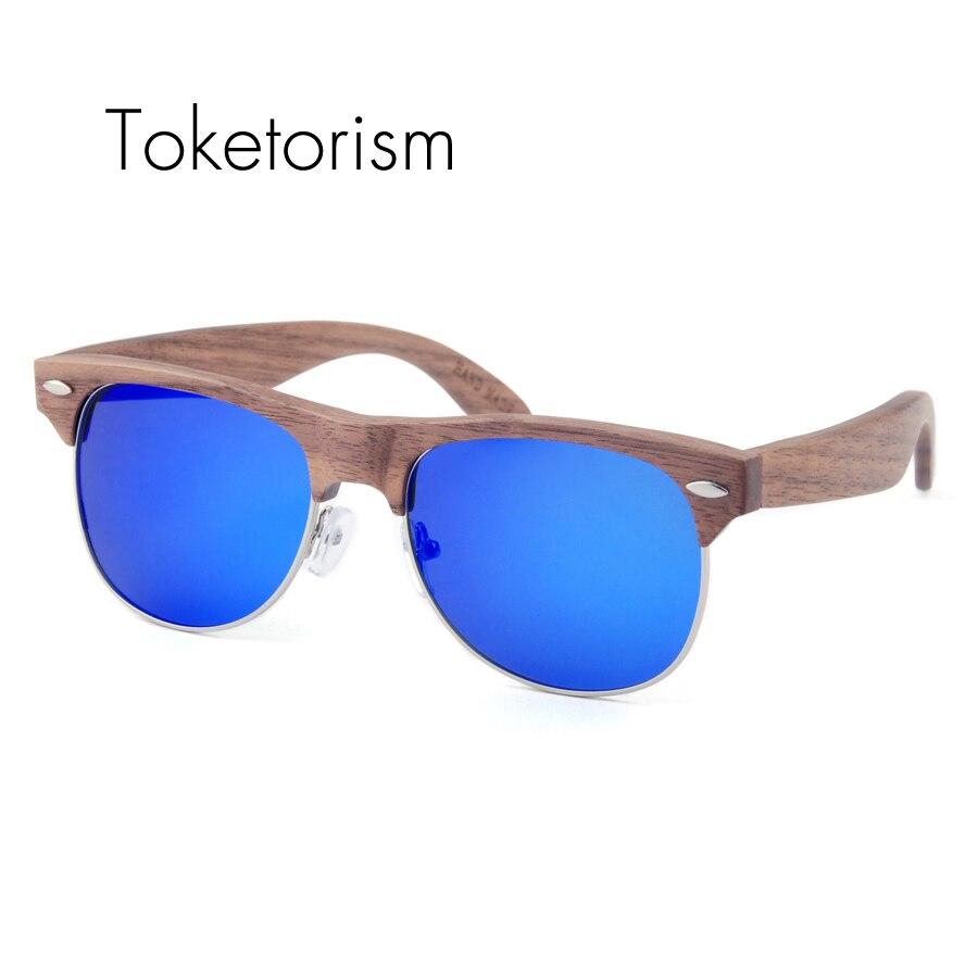 Toketorism Designer high end natürliche holz sonnenbrille halb ...