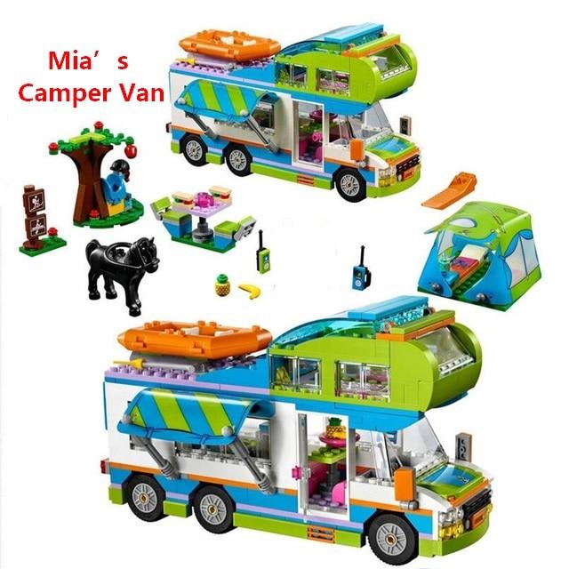 New Friends Series Mia's Camper Van Building Blocks Bricks Toys Children Birthday Gift Compatible With Lego Lepin Friendse 41339 цена