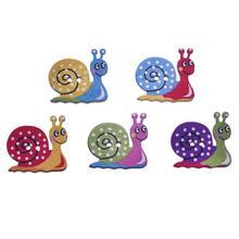 50 шт смешанные цвета улитки деревянные кнопки для рукоделия одежды декоративные DIY Скрапбукинг Кнопки Швейные аксессуары