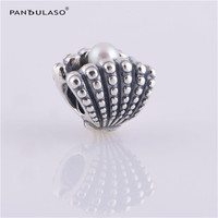Pandulaso Sea Pearl Shell Silver Beads for Jewelry Making Fit Charms Silver 925 Original Bracelets DIY Pearl Jewelry Summer Type