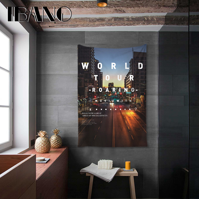 IBANO Fashional Inspirational Letter Tapestry Art Wall Hanging Blanket Home Decoration for Bedroom Dorm Yoga Mat Table Cloth in Tapestry from Home Garden