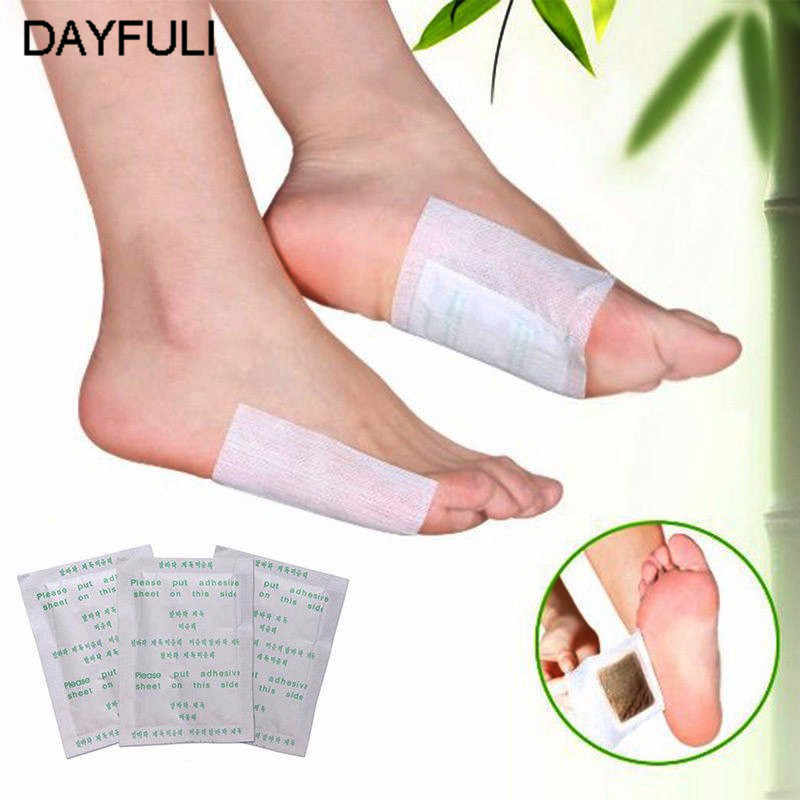 10pcs detox foot pads patch detoxify toxins with adhesive keep fit.