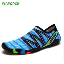 TEXANS Summer Breathable Sports Shoes Men Women Beach Shoes Quick Dry Lightweight Beach Jogging Swimming Walking Shoes Couples