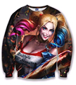 2016 fashion new Sweatshirt American Comic Harley Quinn Suicide Squad Autumn o-neck high quality Sweatshirts free shipping