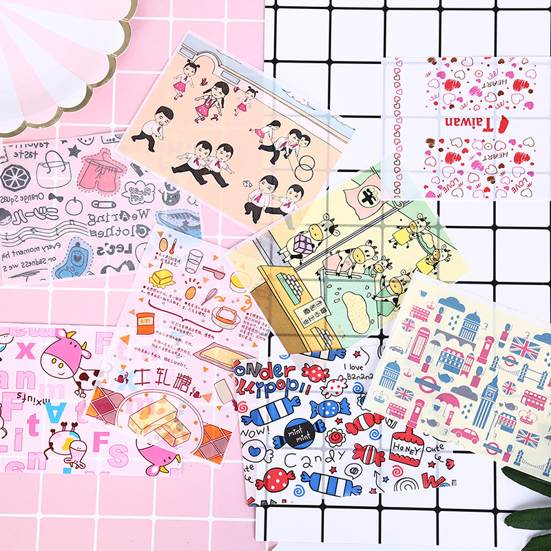 50pcs Cute Cartoon Pattern Sweets Wrappers Paper Candy Chocolate Nougat Caramel