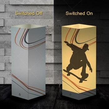 2018 nouveau design skateboard style ombre LED veilleuse comme cadeaux d'anniversaire pour lui