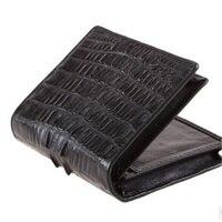 Fashion Alligator Genuine Leather Men Purse Tide Business Multi Card Wallet Men Zipper First Layer Cow Leather Purse