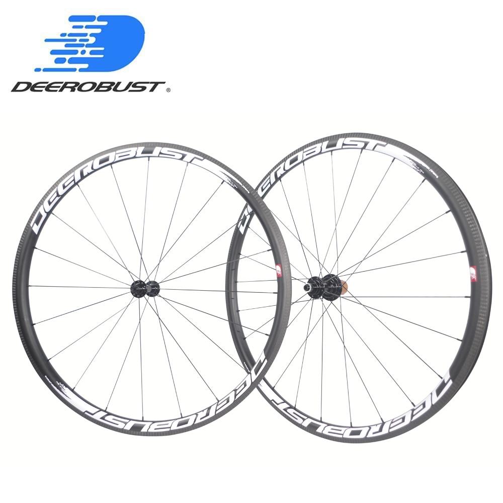 Analytical 1322g Extralite 700c 30mm Deep U Shaped Carbon Tubeless Clincher Road Bike Wheels Bicycle Wheel Set 6 Pawls 20 24 Holes Antibite