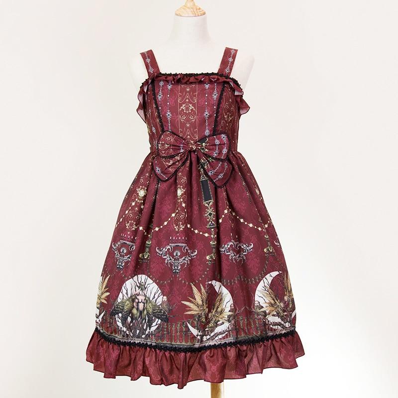 Kawaii JSK Lolita robe douce Lolita princesse fronde sans manches jupe japonaise Original Vintage imprimé