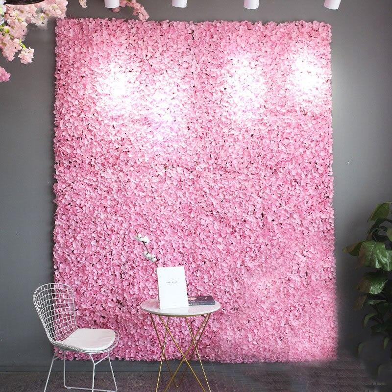 Ev ve Bahçe'ten Parti Arka Planları'de 40x60 cm yapay çiçek Duvar Arka Plan Duvar Yol Kurşun Ortanca Çiçek Düğün Kemer Pavilion Köşe Dekor Çiçek'da  Grup 1